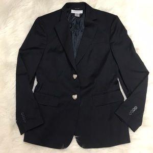 Brooks brothers wool navy blue blazer
